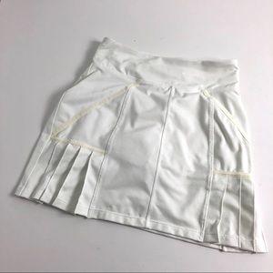 Athleta Under Par Tennis White Skort Pleated XS